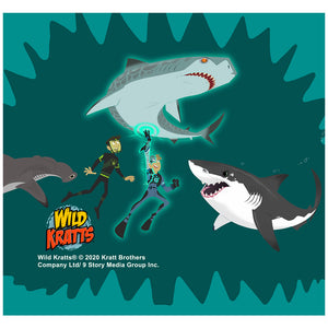 Load image into Gallery viewer, Wild Kratts Swimming with Sharks Adult Mask Design Full View