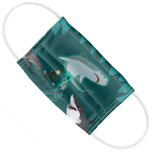 Load image into Gallery viewer, Wild Kratts Swimming with Sharks Kids Flat View