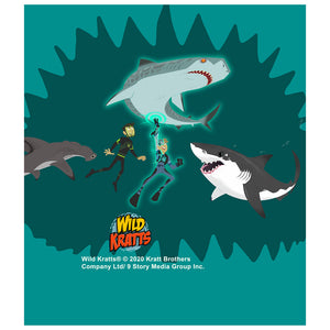 Load image into Gallery viewer, Wild Kratts Swimming with Sharks Kids Mask Design Full