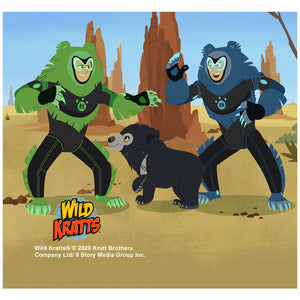Wild Kratts Sloth Bear Adult Mask Design Full View