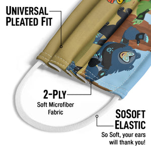 Wild Kratts Sloth Bear Kids Universal Pleated Fit, 2-Ply, SoSoft Elastic Earloops