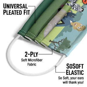 Wild Kratts Animal Friends Adult Universal Pleated Fit, 2-Ply, SoSoft Elastic Earloops