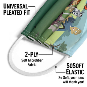 Wild Kratts Animal Friends Kids Universal Pleated Fit, 2-Ply, SoSoft Elastic Earloops