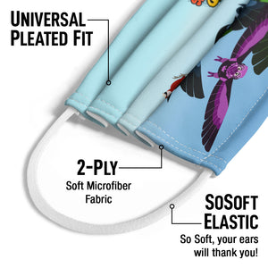 Wild Kratts Fly High Kids Universal Pleated Fit, 2-Ply, SoSoft Elastic Earloops