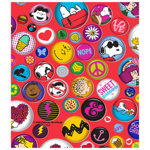 Peanuts Buttons Pattern Kids Mask Design Full View