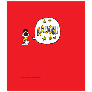 Load image into Gallery viewer, Peanuts Charlie Brown AAUGH! Speech Bubble Kids Mask Design Full View