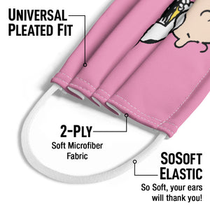 Load image into Gallery viewer, Peanuts Charlie Brown and Snoopy Hug Kids Universal Pleated Fit, 2-Ply, SoSoft Elastic Earloops