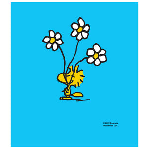 Peanuts Woodstock Smell the Flowers Kids Mask Design Full View