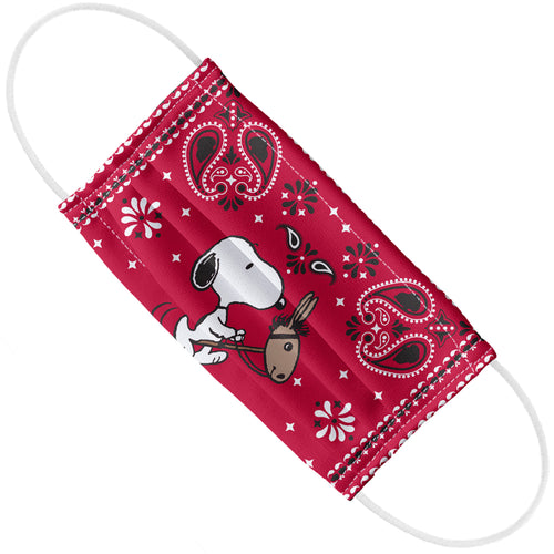 Peanuts Snoopy Cowboy Red Bandana Adult Flat View