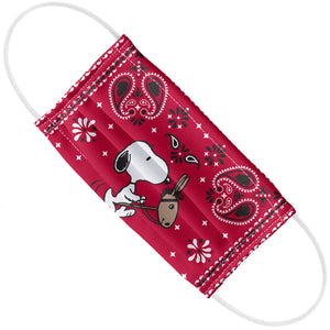 Load image into Gallery viewer, Peanuts Snoopy Cowboy Red Bandana Adult Flat View