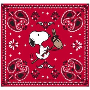 Peanuts Snoopy Cowboy Red Bandana Adult Mask Design Full View