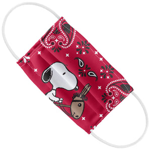 Load image into Gallery viewer, Peanuts Snoopy Cowboy Red Bandana Kids Flat View