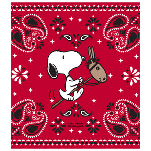 Peanuts Snoopy Cowboy Red Bandana Kids Mask Design Full View