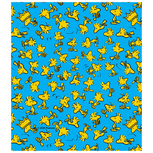 Peanuts Woodstock Pattern Kids Mask Design Full View