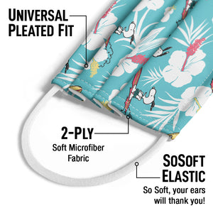 Peanuts Surfing Snoopy Pattern Kids Universal Pleated Fit, 2-Ply, SoSoft Elastic Earloops