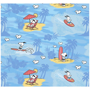 Peanuts Beach Snoopy Pattern Adult Mask Design Full View