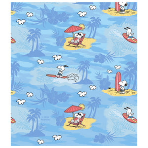 Peanuts Beach Snoopy Pattern Kids Mask Design Full View