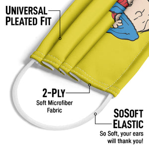 Peanuts Linus Security Blanket Adult Universal Pleated Fit, 2-Ply, SoSoft Elastic Earloops