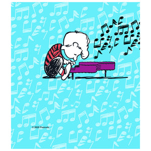 Peanuts Schroeder Plays Piano Kids Mask Design Full View
