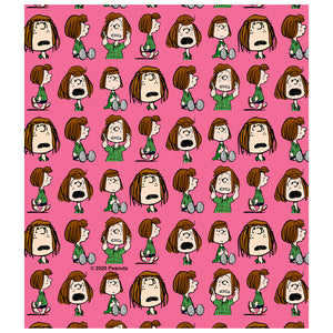 Peanuts Peppermint Patty Repeat Kids Mask Design Full View