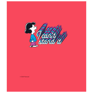 Peanuts Lucy I Can't Stand It Kids Mask Design Full View