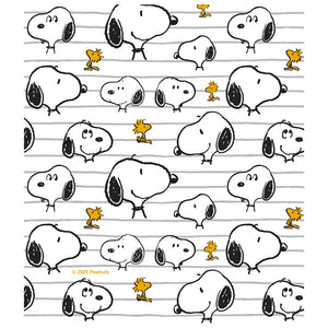 Peanuts Snoopy All Lined Up Pattern Kids Mask Design Full View