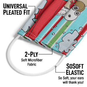 Peanuts Snoopy Red Baron Adult Universal Pleated Fit, 2-Ply, SoSoft Elastic Earloops
