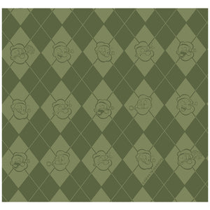 Popeye Argyle Pattern Adult Mask Design Full View