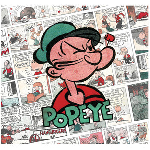Popeye Comic Pattern Adult Mask Design Full View