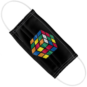 Rubik's Cube Black Adult Flat View