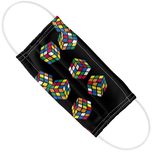 Rubik's Rolling Cubes Black Adult Flat View