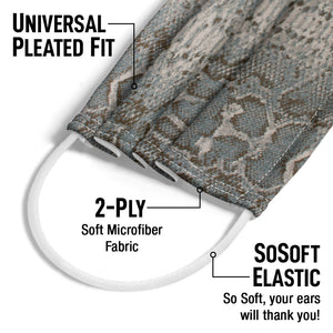 STARK Python Frost Adult Universal Pleated Fit, 2-Ply, SoSoft Elastic Earloops