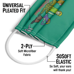 Scooby-Doo Scooby Gang Adult Universal Pleated Fit, 2-Ply, SoSoft Elastic Earloops