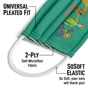 Scooby-Doo Scooby Gang Kids Universal Pleated Fit, 2-Ply, SoSoft Elastic Earloops
