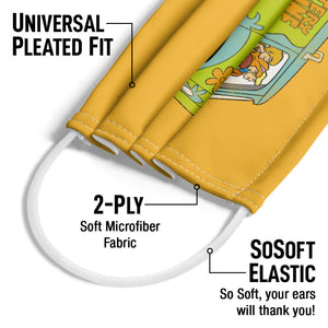 Scooby-Doo The Mystery Machine Driving Adult Universal Pleated Fit, 2-Ply, SoSoft Elastic Earloops