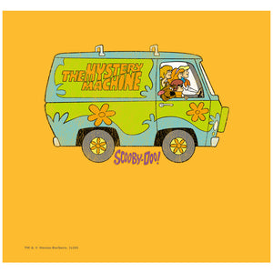 Scooby-Doo The Mystery Machine Driving Adult Mask Design Full View