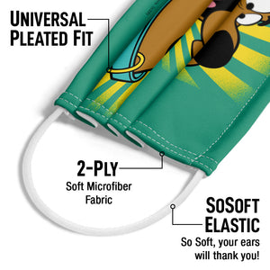 Scooby-Doo Burst Adult Universal Pleated Fit, 2-Ply, SoSoft Elastic Earloops
