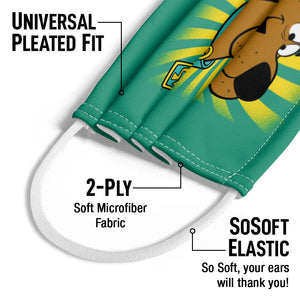 Scooby-Doo Burst Kids Universal Pleated Fit, 2-Ply, SoSoft Elastic Earloops