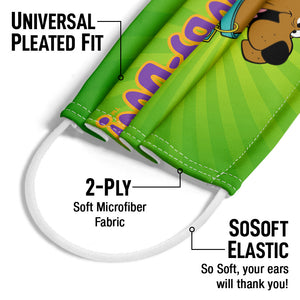 Scooby-Doo Big Smile Adult Universal Pleated Fit, 2-Ply, SoSoft Elastic Earloops