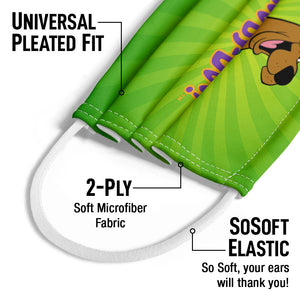 Scooby-Doo Big Smile Kids Universal Pleated Fit, 2-Ply, SoSoft Elastic Earloops