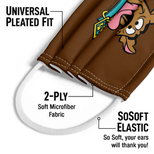 Scooby-Doo Scooby Happy Kids Universal Pleated Fit, 2-Ply, SoSoft Elastic Earloops