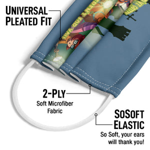 Scooby-Doo Would've Gotten Away With Adult Universal Pleated Fit, 2-Ply, SoSoft Elastic Earloops