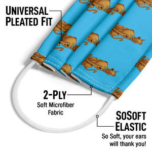 Scooby-Doo Character Pattern Adult Universal Pleated Fit, 2-Ply, SoSoft Elastic Earloops