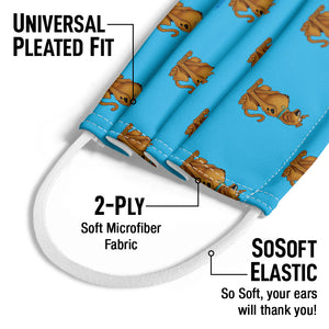 Scooby-Doo Character Pattern Kids Universal Pleated Fit, 2-Ply, SoSoft Elastic Earloops
