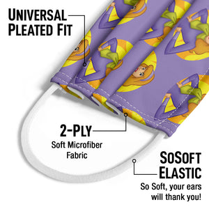 Scooby-Doo Daphne Character Pattern Kids Universal Pleated Fit, 2-Ply, SoSoft Elastic Earloops
