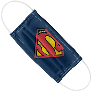 Superman Distressed Shield Logo Adult Flat View