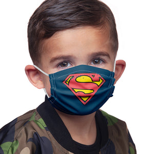Load image into Gallery viewer, Superman Distressed Shield Logo Kids Main Model View