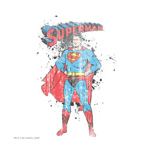 Load image into Gallery viewer, Superman Vintage Ink Splatter Adult Mask Design Full View