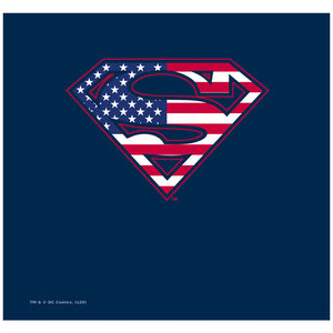 Superman U.S. Shield Adult Mask Design Full View