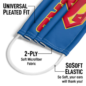 Superman Super Dad Adult Universal Pleated Fit, 2-Ply, SoSoft Elastic Earloops